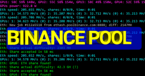 כרייה באמצעות PHOENIX MINER דרך בינאנס POOL - הגדרות